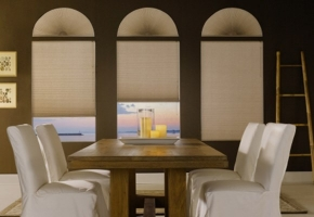 Plisētas žalūzijas apaļiem logiem - 12 tips